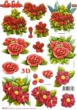 3D-Stanzbogen Blumen von LeSuh (680.022)