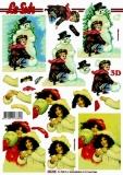 3D-Stanzbogen Weihnachtsnostalgie von LeSuh (680.028)
