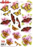3D-Stanzbogen Schmetterlinge von LeSuh (680.006)