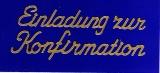 Sticker - Einladung zur Konfirmation - gold - 498