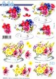 3D-Stanzbogen Blumen von LeSuh (680.029)