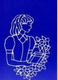 Sticker - Motiv Mädchen 2 - silber - 889