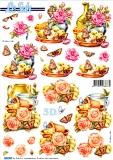 3D-Stanzbogen Rosen und Schmetterlinge von LeSuh (680.009)