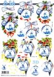3D-Stanzbogen Weihnachtskugel mit Mühle von LeSuh (680.041)