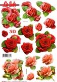 3D-Stanzbogen Rosenblüten von LeSuh (680.004)