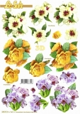 3D-Stanzbogen Blumen von LeSuh (680.014)