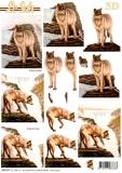 3D-Stanzbogen Wölfe von LeSuh (680.005)