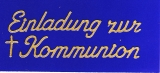 Sticker - Einladung zur Kommunion - gold - 497