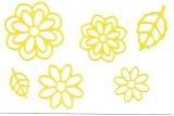Sticker - Blumen 19 - hellgelb - 1113