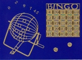Sticker - Bingo - gold - 1216