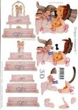 3D-Bogen Brautpaar und Torte von LeSuh (416934)