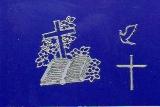 Sticker - Bibel und Kreuz - silber - 895