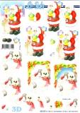 3D-Stanzbogen Weihnachtsmann mit Vögel von LeSuh (680.050)