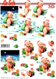 3D-Stanzbogen Weihnachtsbärchen von LeSuh (680.054)