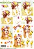 3D-Stanzbogen Blumenmädchen von LeSuh (680.065)