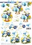 3D-Stanzbogen Weihnachtsdeko in Blau von LeSuh (680.045)
