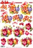 3D-Stanzbogen Weihnachtsdeko mit Kerzen von LeSuh (680.044)