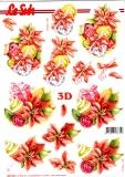 3D-Stanzbogen Weihnachtsdeko in Rot von LeSuh (680.046)