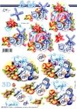 3D-Stanzbogen Weihnachtsdeko von LeSuh (680.043)