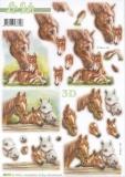 3D-Stanzbogen Pferde von LeSuh (680.111)
