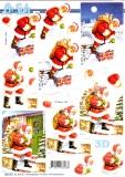 3D-Stanzbogen Weihnachtsmann von LeSuh (680.051)