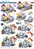 3D-Stanzbogen Weihnachten in Blau von LeSuh (680.047)