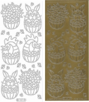 Sticker - Ostern 8 - gold - 181