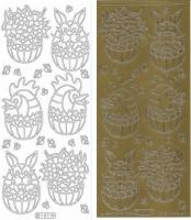 Sticker - Ostern - gold - 181