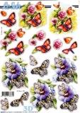 3D-Stanzbogen Schmetterlinge von LeSuh (680.075)