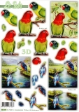3D-Stanzbogen Papagei von LeSuh (680.081)