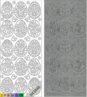 Sticker - Ostern 3 - silber - 898