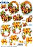 3D-Stanzbogen Weihnachtskränze von LeSuh (680.117)