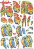3D-Stanzbogen Papagei von LeSuh (680.107)b