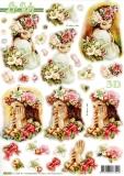 3D-Stanzbogen Blumenmädchen von LeSuh (680.093)