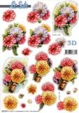 3D-Stanzbogen Dahlien von LeSuh (680.088)