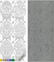 Sticker - Ostern 4 - silber - 899
