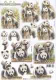 3D-Stanzbogen Panda von LeSuh (680.105)