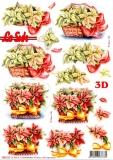 3D-Stanzbogen Weihnachtssterne von LeSuh (680.120)