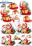 3D-Stanzbogen Weihnachtskatzen von LeSuh (680.121)