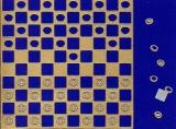 Sticker - Mühle, Dame, Schach - gold - 1219