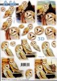 3D-Stanzbogen Eulen von LeSuh (680.080)