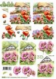 3D-Stanzbogen Blumen am Haus von LeSuh (680.083)