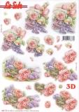 3D-Stanzbogen Rosenstrauß von LeSuh (680.110)