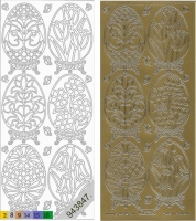 Sticker - Ostern 4 - gold - 899