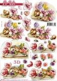 3D-Stanzbogen Blumen von LeSuh (680.085)