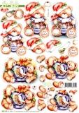 3D-Stanzbogen Weihnachtsbärchen von LeSuh (680.116)