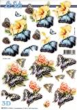 3D-Stanzbogen Schmetterlinge von LeSuh (680.076)