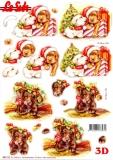 3D-Stanzbogen Weihnachtshunde von LeSuh (680.122)