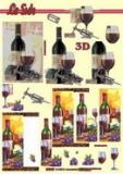 3D-Stanzbogen Metallic Wein von LeSuh (600.016)