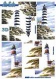 3D-Stanzbogen Metallic Leuchtturm von LeSuh (600.015)